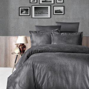 купить Постельное белье First Choice жаккард tecna fume Серый фото