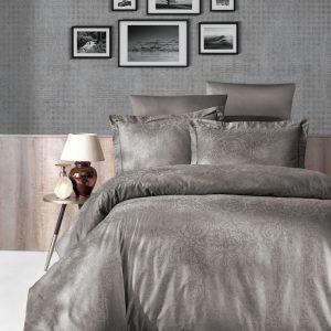 купить Постельное белье First Choice жаккард tecna vizon Серый фото