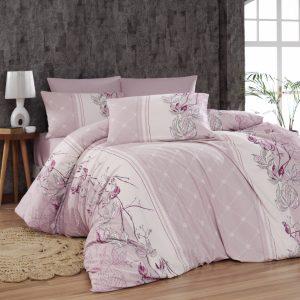купить Постельное белье First Choice De Luxe ранфорс arnica pudra Розовый фото