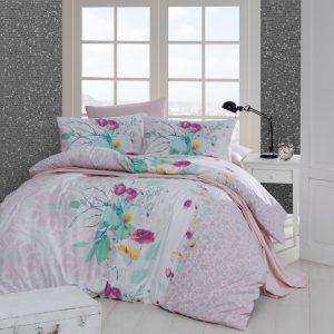 купить Постельное белье First Choice De Luxe ранфорс rihanna somon Розовый фото