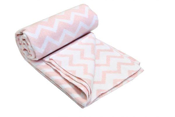 купить Детский Плед-Одеяло Vladi Зигзаг 100*140 розовый