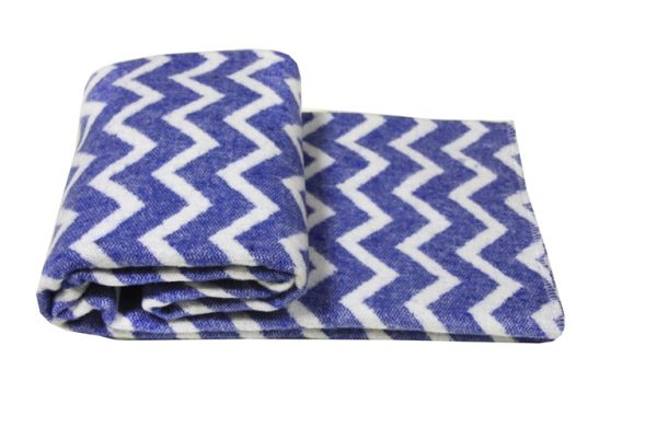 купить Детский Плед-Одеяло Vladi Зигзаг 100*140 blue