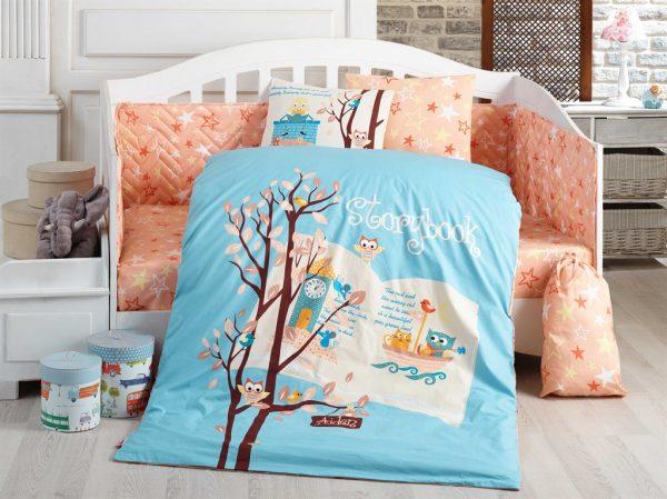 купить Детское постельное белье Hobby Dream Clock Голубой фото