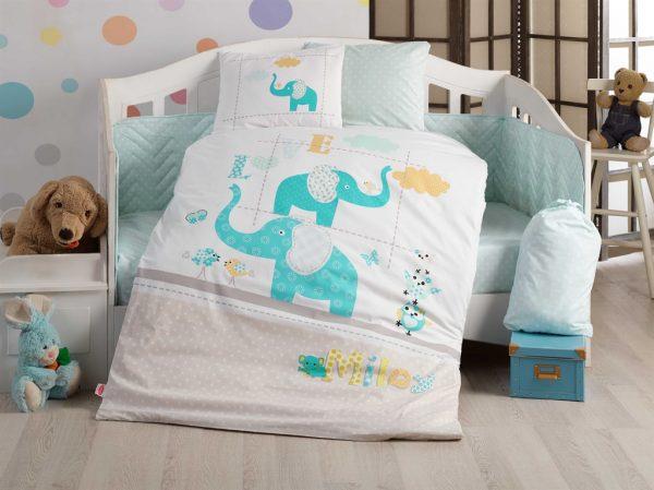 купить Детское постельное белье Hobby Pretty blue Голубой фото