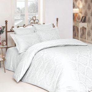 купить Комплект постельного белья Zugo Home жаккард Ottoman beyaz Белый фото