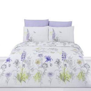 купить Комплект постельного белья Zugo Home ранфорс Blossom Сиреневый фото
