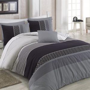 купить Комплект постельного белья Zugo Home ранфорс Eiffel V2 Черный Серый фото