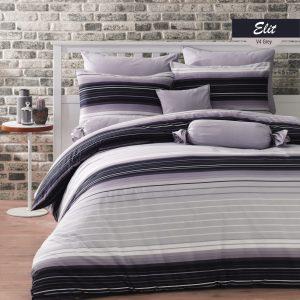 купить Комплект постельного белья Zugo Home ранфорс Elit V4 Серый фото