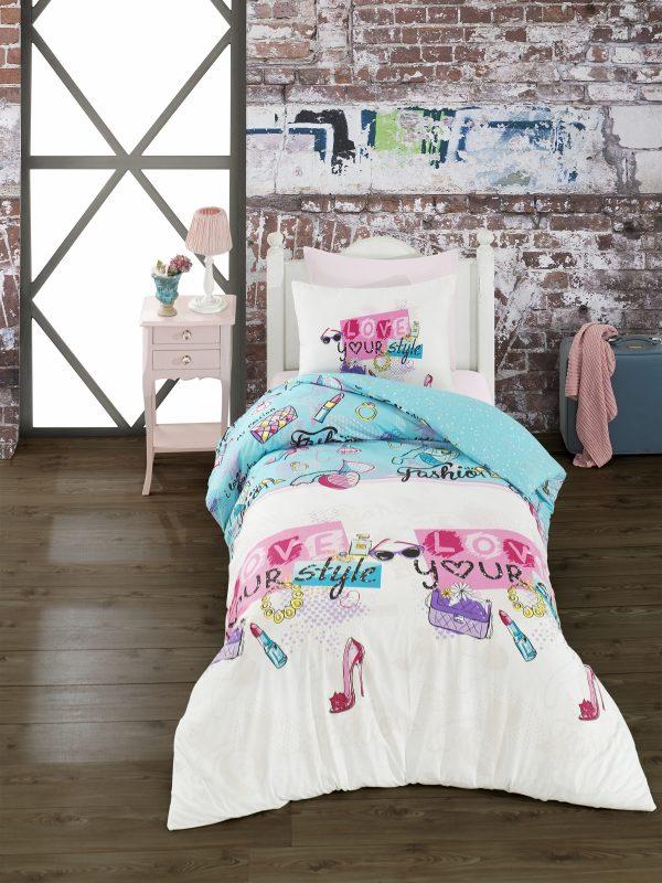купить Комплект постельного белья Zugo Home ранфорс Funny Stary Белый фото