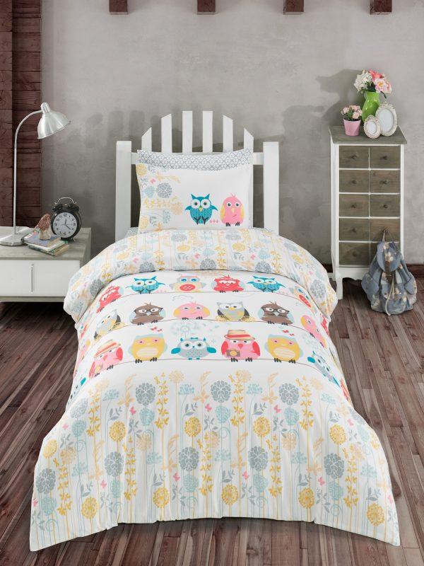 купить Комплект постельного белья Zugo Home ранфорс Owl Желтый фото