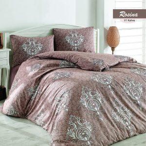 купить Комплект постельного белья Zugo Home ранфорс Rosina V1 Коричневый фото