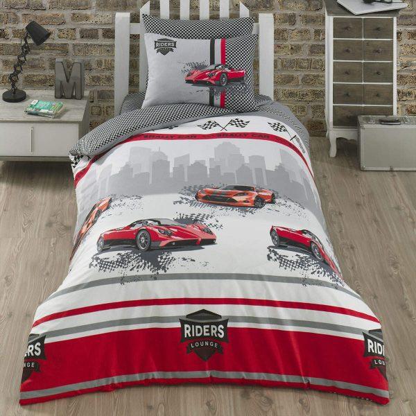 купить Комплект постельного белья Zugo Home ранфорс Speedy Серый фото