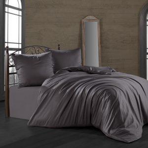 купить Комплект постельного белья Zugo Home сатин однотонный Antrasit Серый Черный фото