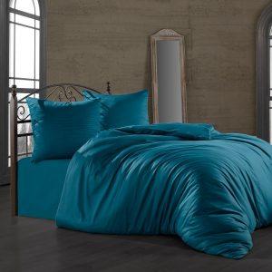 купить Комплект постельного белья Zugo Home сатин однотонный Petrol Голубой фото
