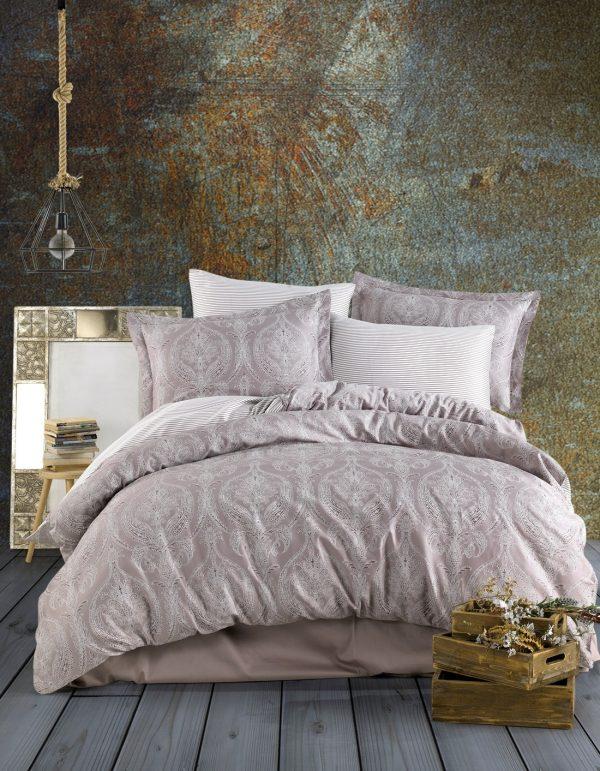 купить Комплект постельного белья Zugo Home сатин Jacquard brown Коричневый|Бежевый фото