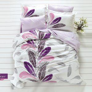 купить Комплект постельного белья Zugo Home сатин Plume Сиреневый фото