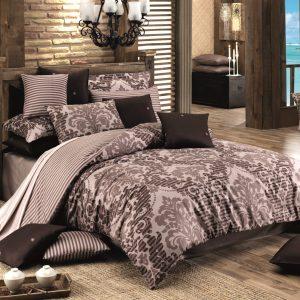 купить Комплект постельного белья Zugo Home сатин Sultan V1 Коричневый фото