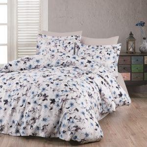 купить Комплект постельного белья Zugo Home сатин Viola V1 Голубой фото