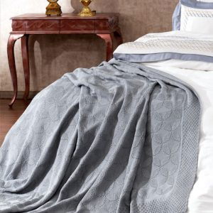 купить Плед-Покрывало Royal Nazik Серый