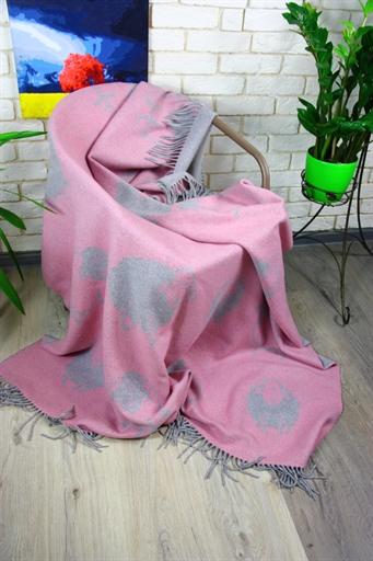 купить Плед Funny Moose 140*200 Розовый