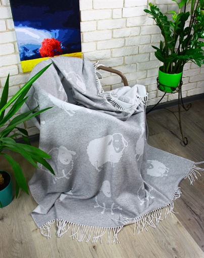 купить Плед Funny Moose 140*200 Серый