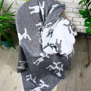 купить Плед Funny Moose 140*200 grey