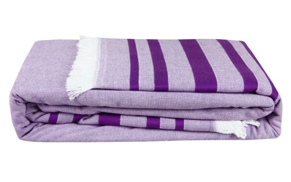 купить Покрывало Махровое Hobby Retro Peshtemal 200*220 Фиолетовый