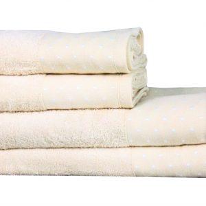 купить Полотенце Махровое Bamboo Puan Blanc Кремовый