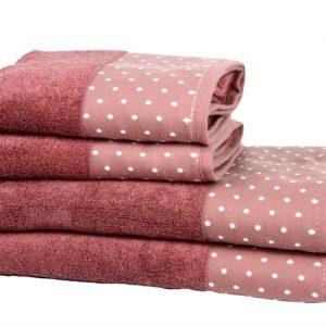 купить Полотенце Махровое Bamboo Puan Blanc Розовый