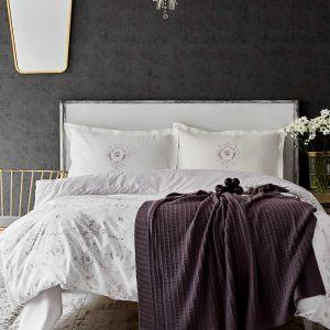 купить Постельное белье с пледом Karaca Home Quatre delux murdum 2020-1 Кремовый фото