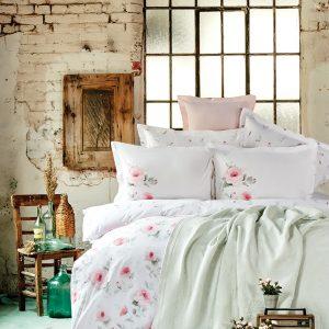 купить Постельное белье с покрывалом Karaca Home Annas s.yesili 2020-1 Розовый фото
