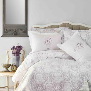 купить Постельное белье с покрывалом Karaca Home Quatre delux silver 2019-2 Серый фото