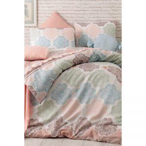 купить Постельное белье Eponj Home Andalucia Turkuaz ранфорс Розовый фото