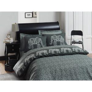 купить Постельное белье Eponj Home Elepante antrasit-fume ранфорс Серый фото