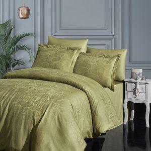 купить Постельное белье First Choice жаккард superior bamboo sasha z. yesil Зеленый фото
