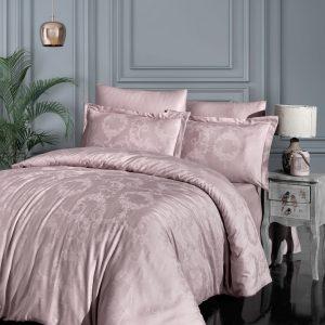 купить Постельное белье First Choice жаккард superior modal linda pudra Розовый фото