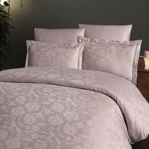 купить Постельное белье First Choice жаккард superior tencel vento pudra Розовый фото