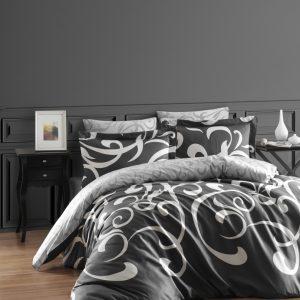 купить Постельное белье First Choice сатин люкс ruya fume Серый фото