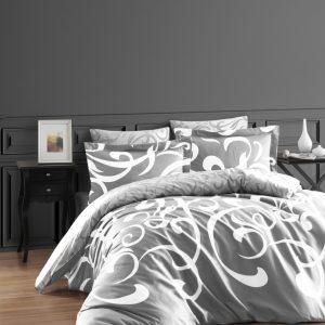 купить Постельное белье First Choice сатин люкс ruya gri Серый фото