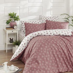 купить Постельное белье First Choice de luxe ранфорс цветной light gulkurusu Розовый фото
