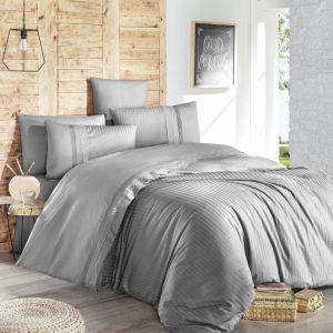 купить Постельное белье First Choice de luxe ranforce gala gri Серый фото