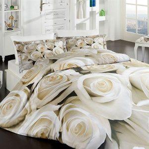 купить Постельное белье First Choice vip сатин 3d 200х220 blanch Бежевый фото
