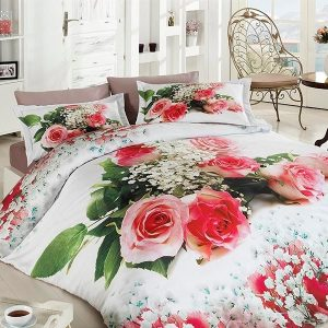 купить Постельное белье First Choice vip сатин 3d 200х220 bonni Розовый фото