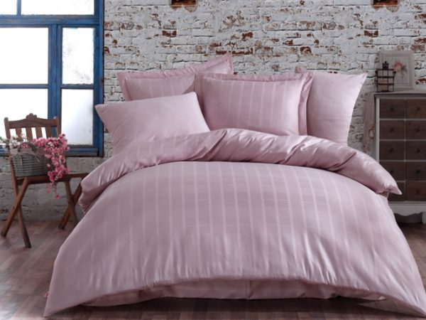купить Постельное белье Hobby Exclusive Sateen Diamond Ekose Розовый Розовый фото