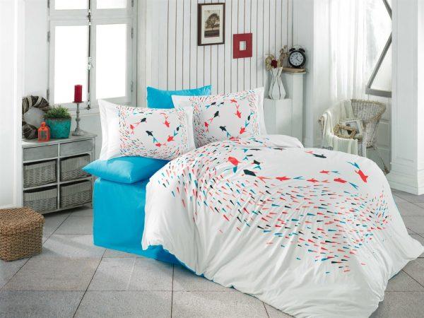купить Постельное белье Hobby Poplin Delfina Голубой фото