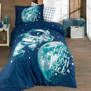 купить Постельное белье Hobby Poplin Galaxy blue Синий фото