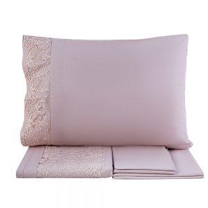 купить Постельное белье Karaca Home ранфорс Eva pudra 2020-1 Розовый фото