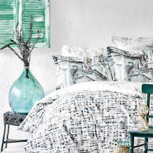 купить Постельное белье Karaca Home ранфорс Vella mavi 2020-1 Голубой фото