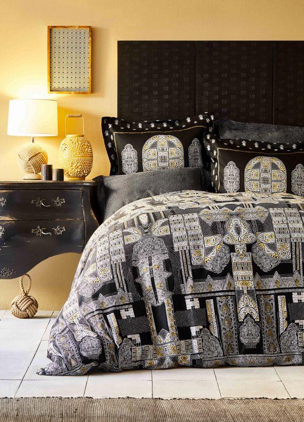купить Постельное белье Karaca Home сатин Kiara siyah 2020-1 Черный фото