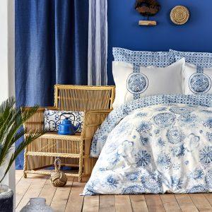 купить Постельное белье Karaca Home Felinda mavi 2019-2 пике Голубой фото